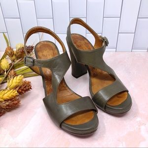 Chie Mihara Olive Ankle Strap Asymmetrical Sandal